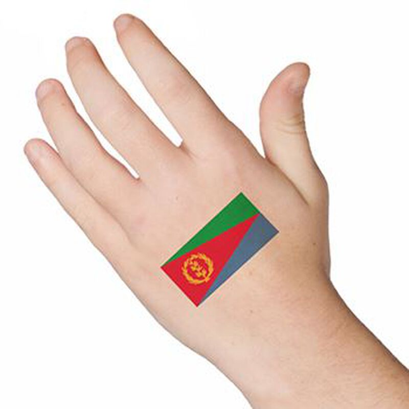 Flag of Eritrea Temporary Tattoo image number null