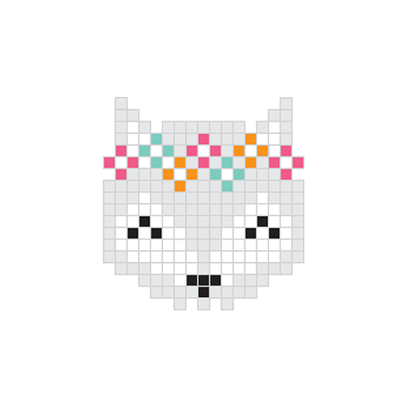 Pixel Grey Fox Temporary Tattoo image number null