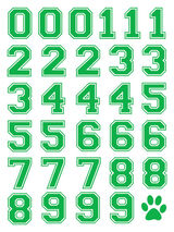 Green Sports Numbering Temporary Tattoos