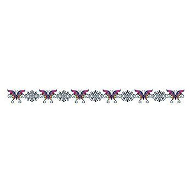 Butterfly Tribal Band Temporary Tattoo image number null