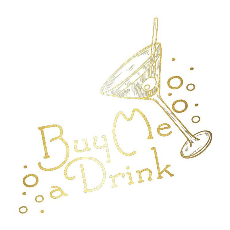 Metallic Buy Me A Drink Temporary Tattoo image number null