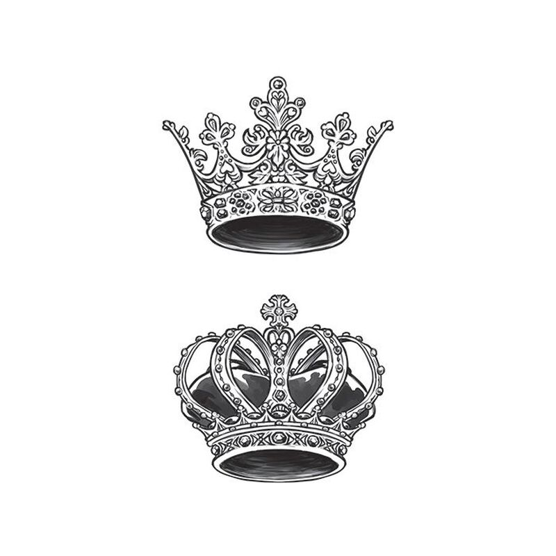 King & Queen Crown Temporary Tattoos image number null