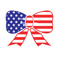 Patriotic Bow Temporary Tattoo
