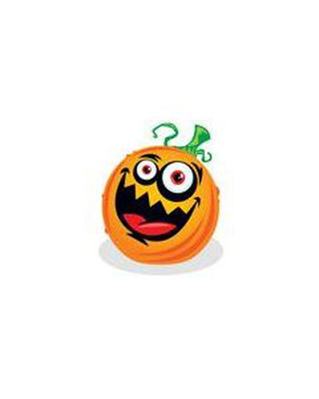 Kids Crazy Jack O Lantern Temporary Tattoo image number null