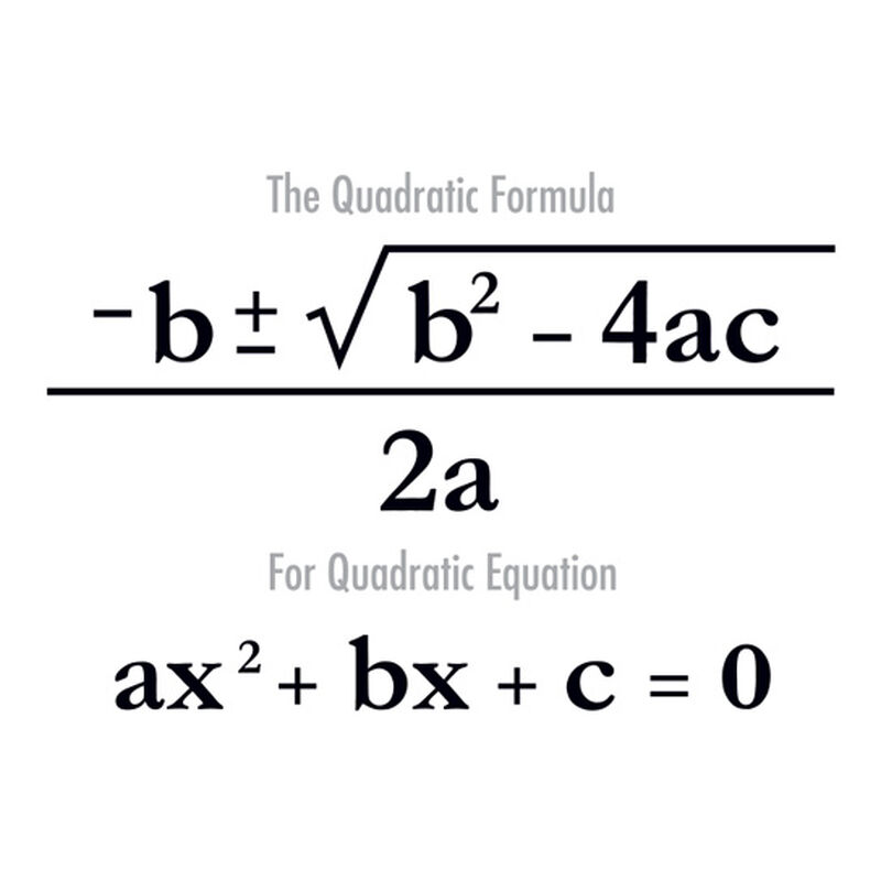 Quadratic Formula Temporary Tattoo image number null