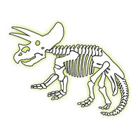 Glow Triceratops Temporary Tattoo