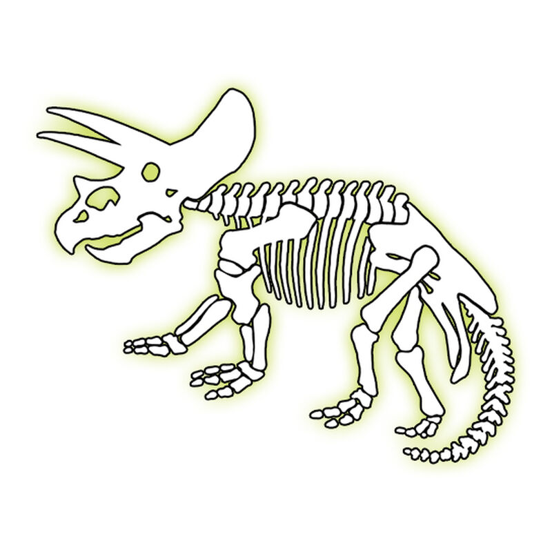 Glow Triceratops Temporary Tattoo image number null