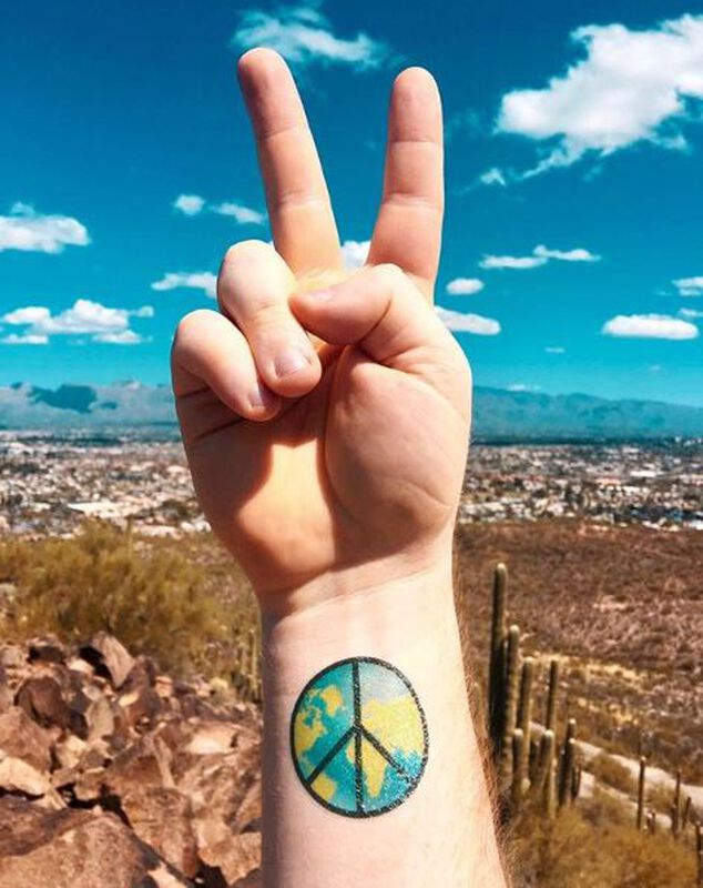 World Peace Temporary Tattoo image number null