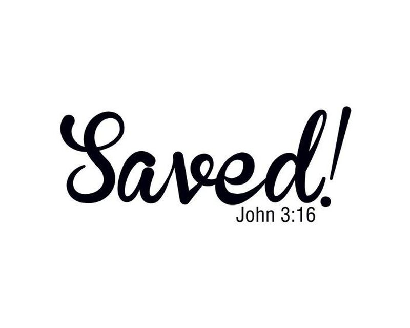 Saved! John 3:16 Temporary Tattoo image number null