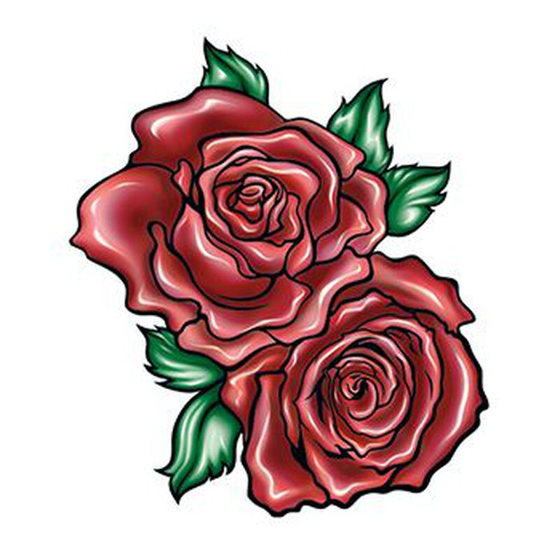 Two Red Roses Temporary Tattoo image number null
