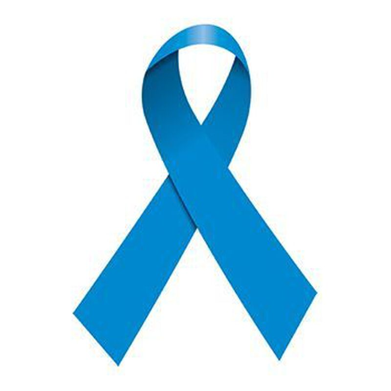 Blue Awareness Ribbon Temporary Tattoo image number null