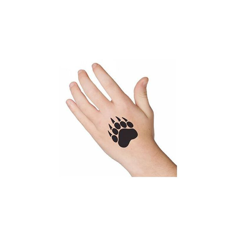 Bear Paw Print Temporary Tattoo image number null