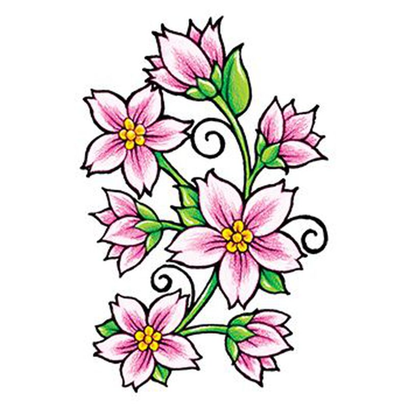 Classic Girls: Flowers and Vines Temporary Tattoo image number null