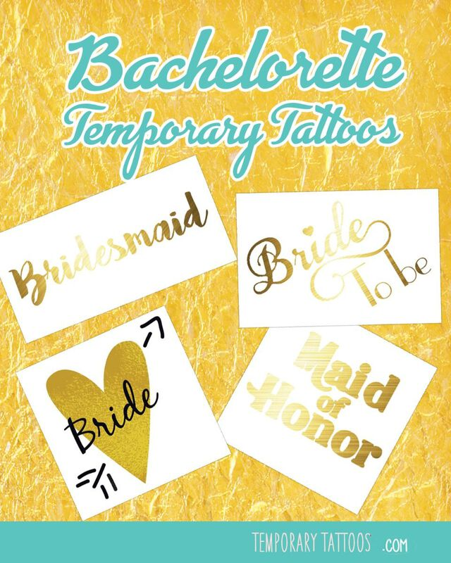 Bridal Party Temporary Tattoo Pack image number null