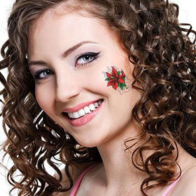 Red Flower Temporary Tattoo image number null
