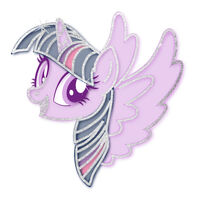 My Little Pony Twilight Sparkle Metallic Temporary Tattoo