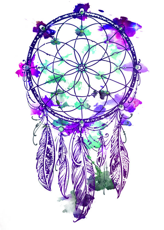 Galaxy Dream Catcher Temporary Tattoo image number null