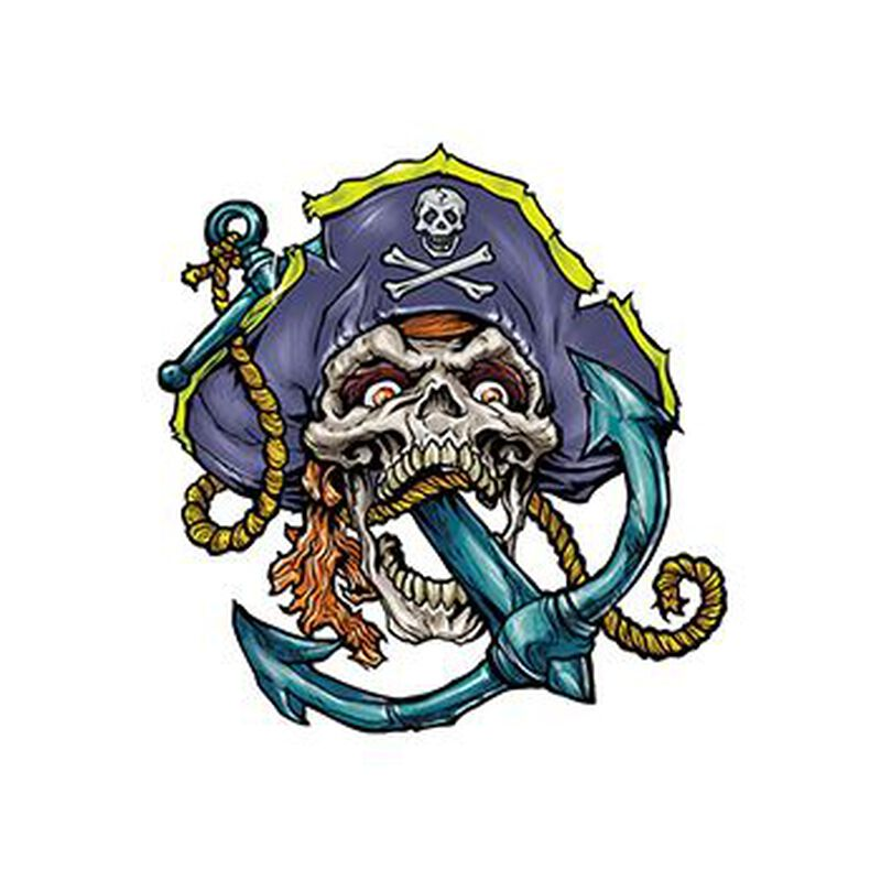 Pirate Skull and Anchor Temporary Tattoo image number null