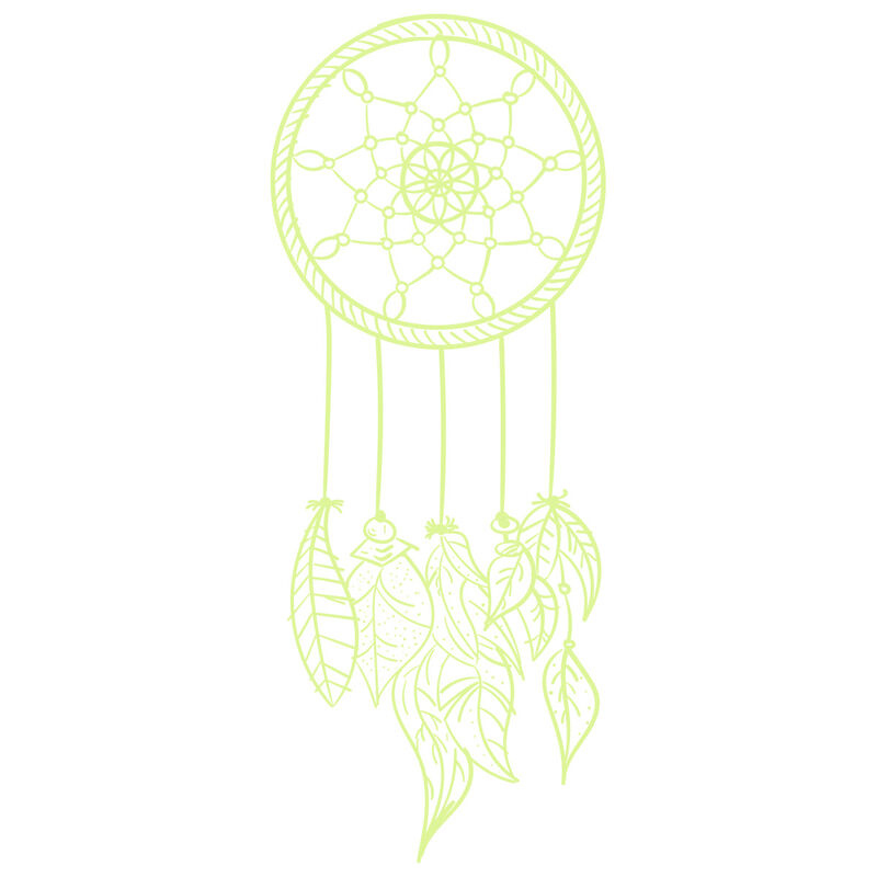 White Ink Glow-in-the-Dark Dream Catcher Temporary Tattoo image number null