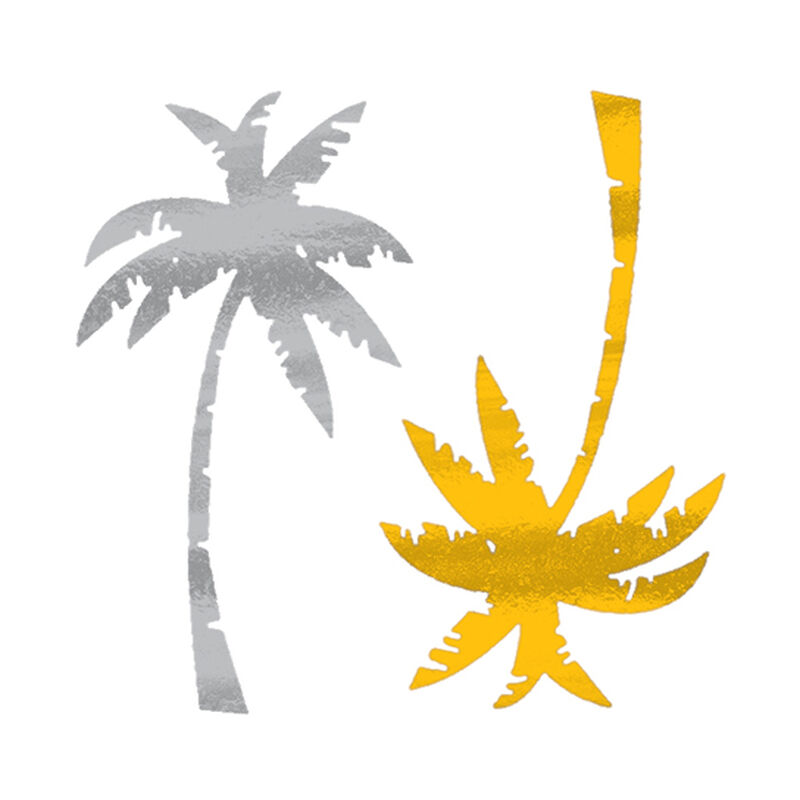 Metallic Palm Trees Temporary Tattoo image number null