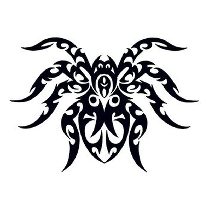 Tribal Spider Temporary Tattoo image number null
