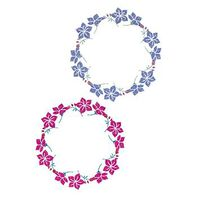Glitter Flower Tribal Rings Temporary Tattoo