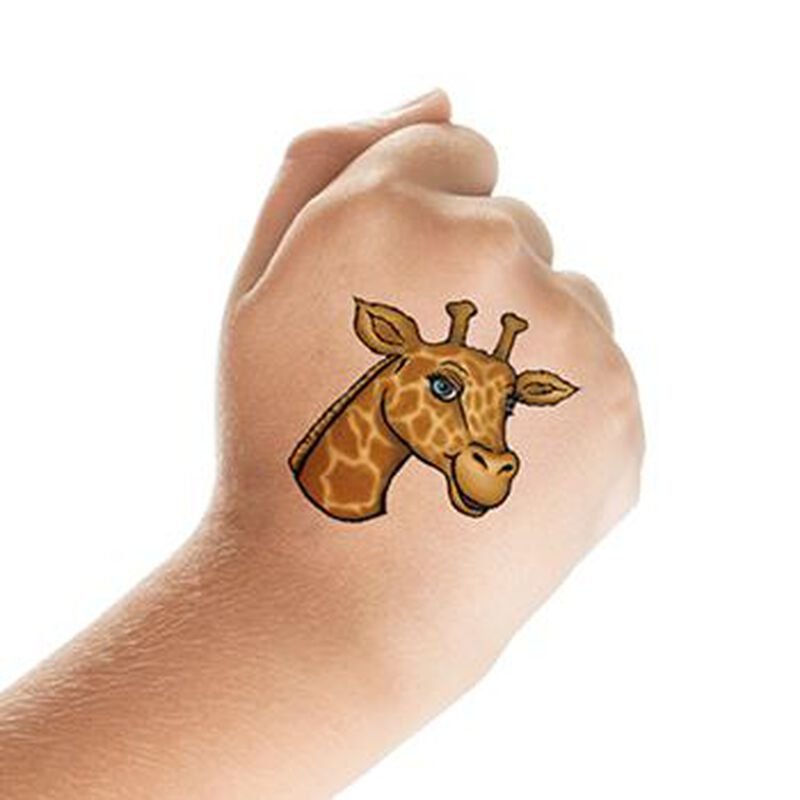 Giraffe Head Temporary Tattoo image number null
