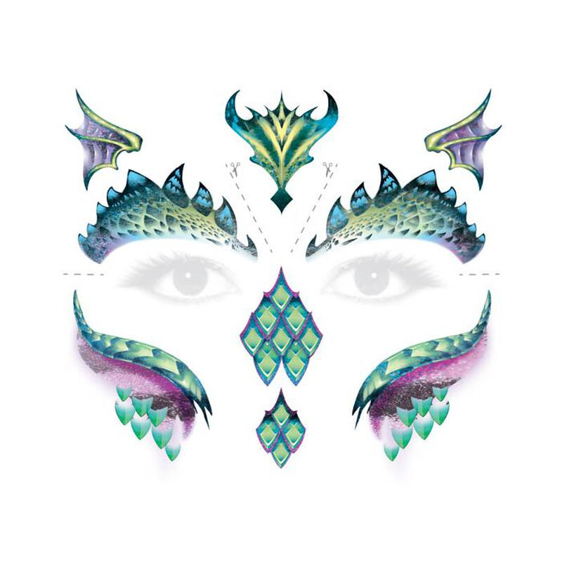 Dragon Face Temporary Tattoo image number null