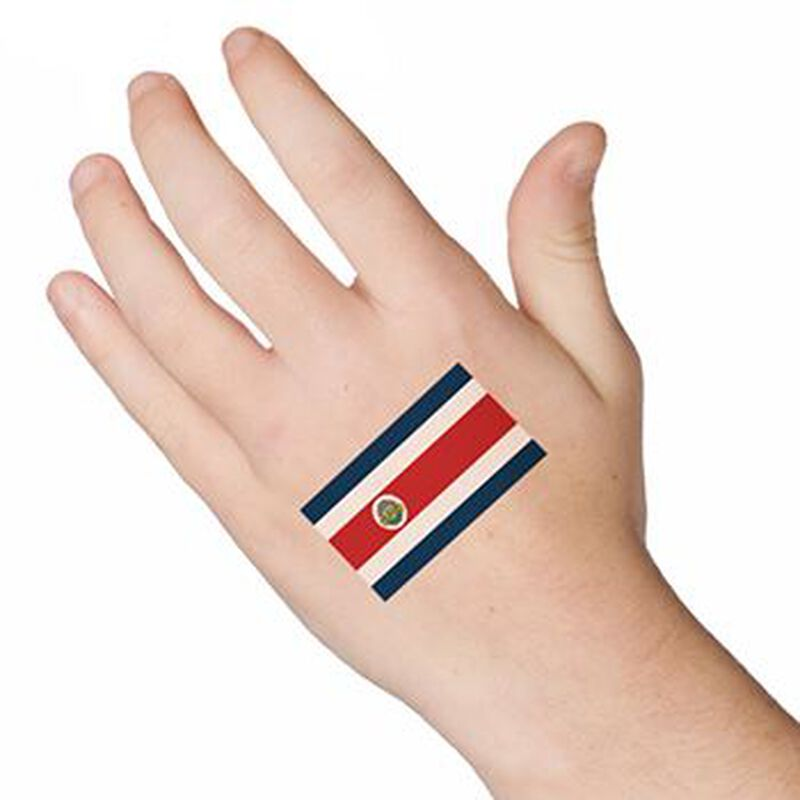 Flag of Costa Rica Temporary Tattoo image number null