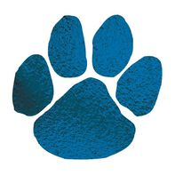 Metallic Navy Blue Paw Temporary Tattoo