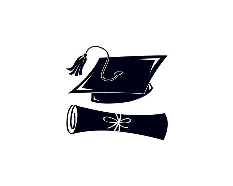 Black Graduation Day Temporary Tattoos image number null
