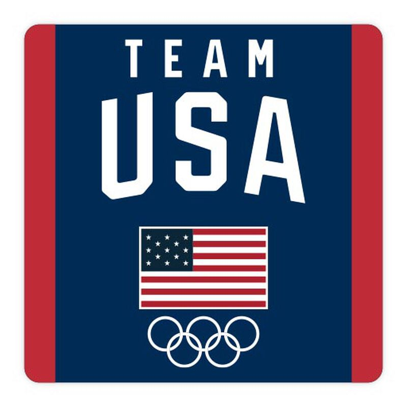 team usa logo with flag and rings sticker image number null