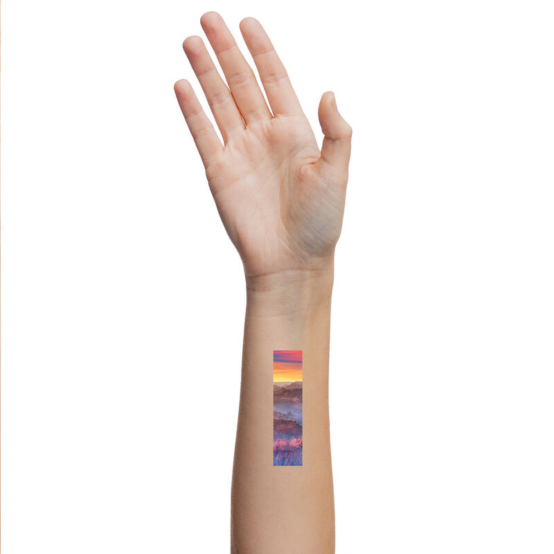 Grand Canyon Frame Temporary Tattoo In Use image number null