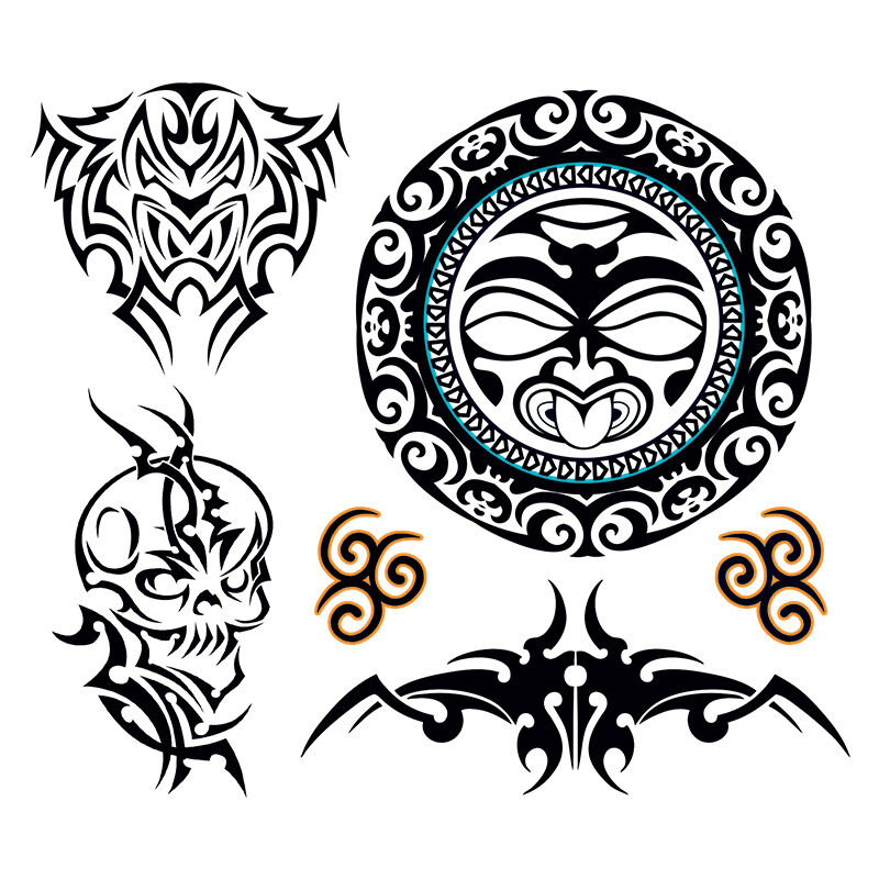 Tribal Face Costume Tattoo image number null
