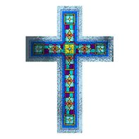 Stained Glass Cross Temporary Tattoo