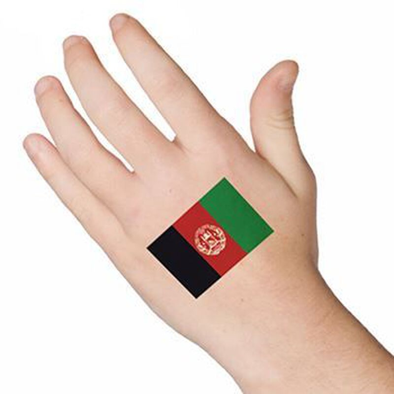 Afghanistan Flag Temporary Tattoo image number null