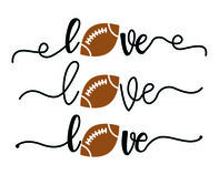 Love Football Temporary Tattoo