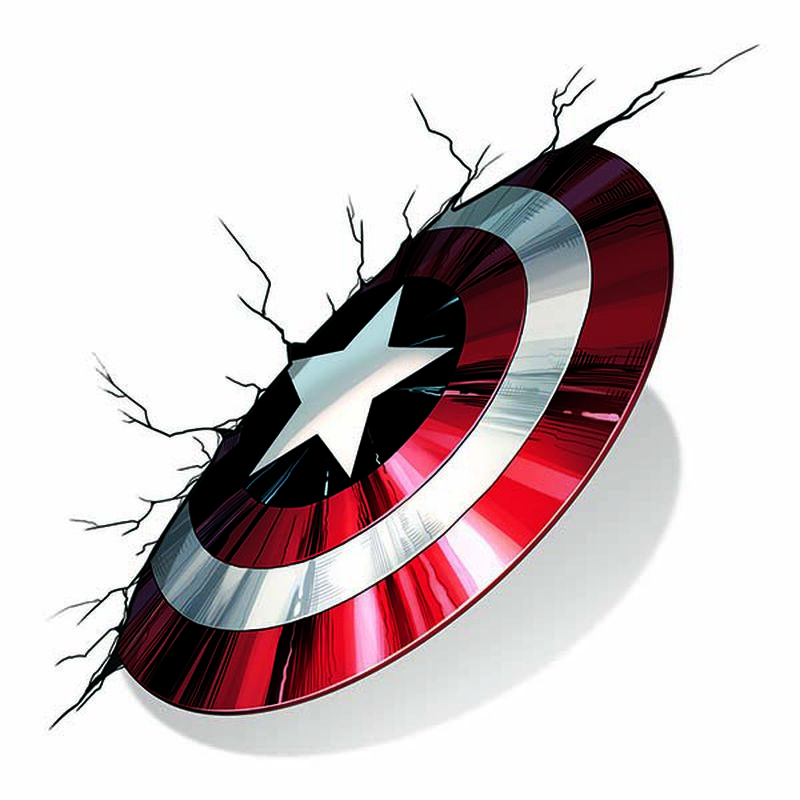 Avengers Captain America Shield Temporary Tattoo image number null