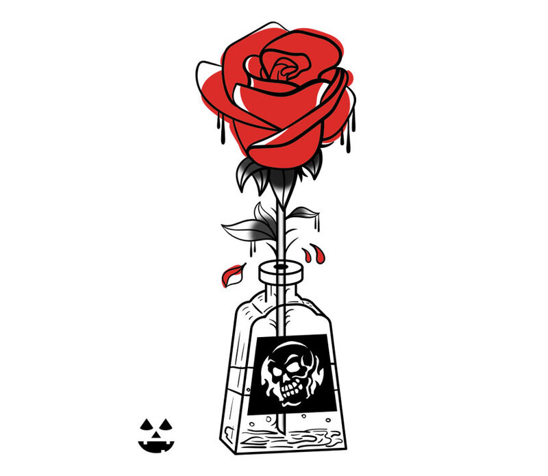 Poison Bottle Temporary Tattoo image number null