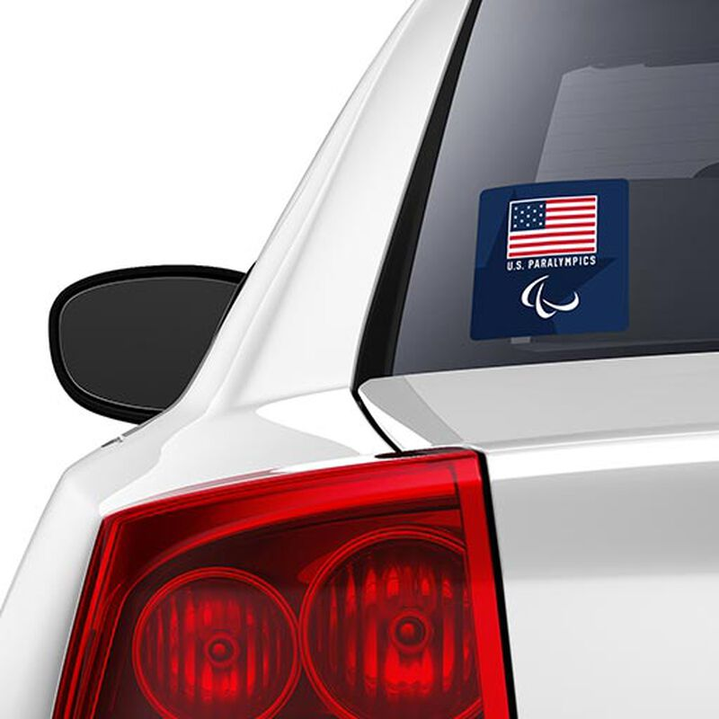 team usa paralympics flag and logo sticker on car image number null