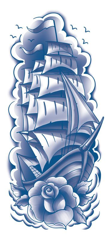 Classic Blue Sailboat Sleeve image number null