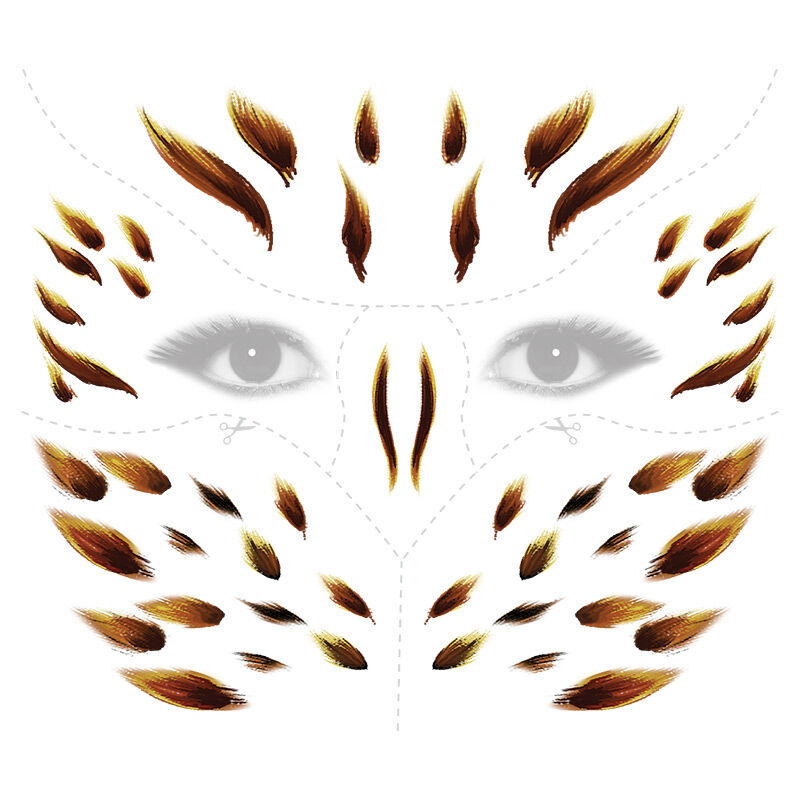 Animal Owl Face Eyes Costume Tattoo image number null
