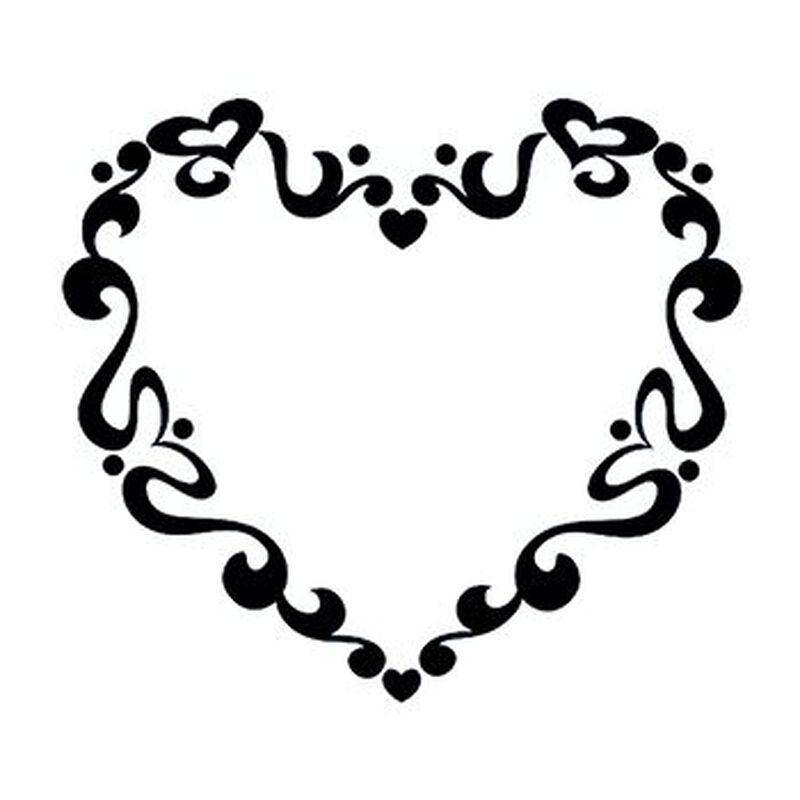 Tribal Swirl Heart Temporary Tattoo image number null