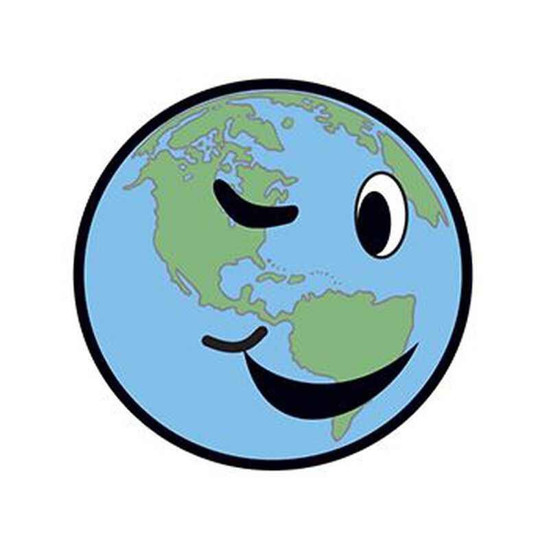 Winking Earth Temporary Tattoo image number null