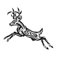 Tribal Deer Temporary Tattoo