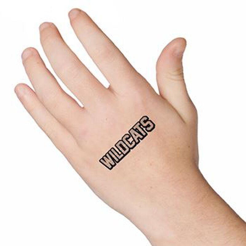 Wildcats Text Temporary Tattoo image number null