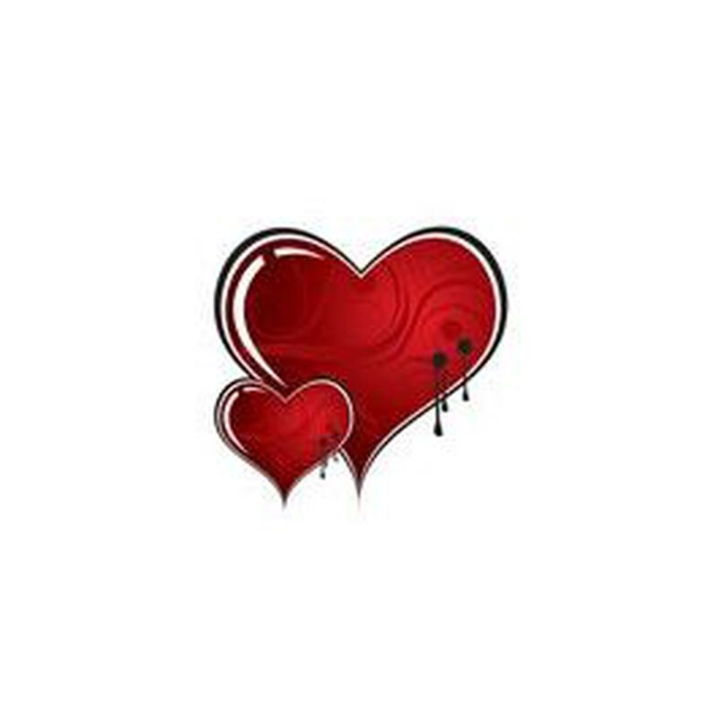 Duo Vampire Hearts Temporary Tattoo image number null