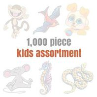 Assorted Temporary Tattoos for Kids (1000 tattoos)