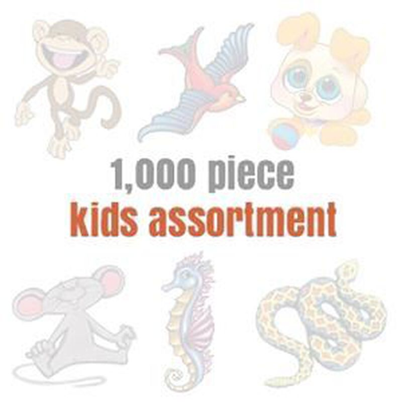 Assorted Temporary Tattoos for Kids (1000 tattoos) image number null