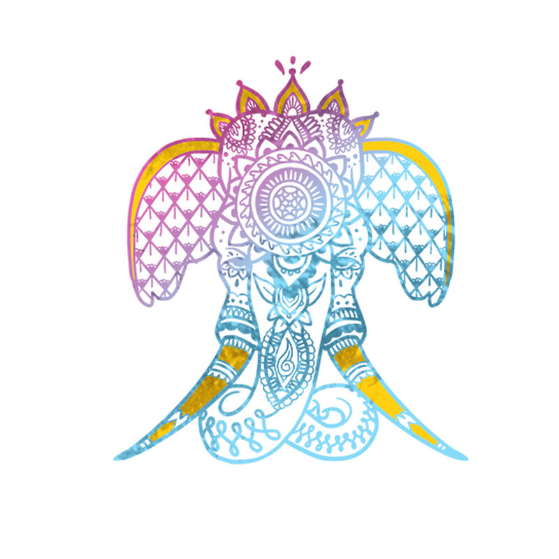 Mystical Elephant Temporary Tattoo image number null